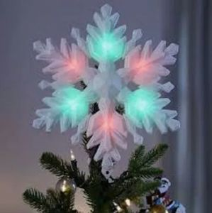 Hallmark LIGHTED MUSICAL Snowflake Tree Topper